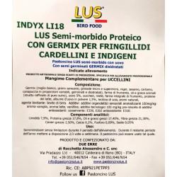 Bianco Lus semi-morbido con Germix per Fringillidi-Indigeni 5kg Scad. 07/20