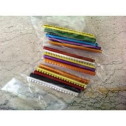 Anelli di alluminio numerati mm. 2,5 per esotici